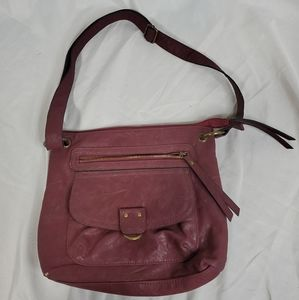 Beuno Mauve Leather Purse